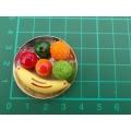 Ovoce na talíři - dekorace miniatura
