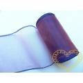 Organza fialová duha - šíře 10 cm