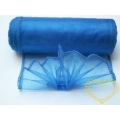 Organza modrá - šíře 12 cm