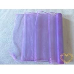 Organza fialová - šíře 38 cm - oboustranně obroubená