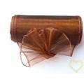 Organza hnědá bronz - šíře 10 cm