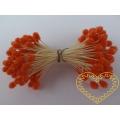 Oranžové květinové pestíky chomáčky - 72 hlaviček
