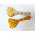 Žluté podlouhlé pestíky - tyčinky 48 ks