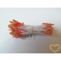 Pestíky květinové oranžové 2 mm - 144 ks
