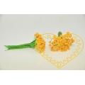 Žluté květinové středové pestíky - 10 hlaviček