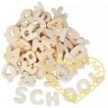 Dřevěná písmena - 300 ks