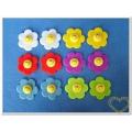 Šesticípé kytky s obličejem mix - 12 kusů - dekorace