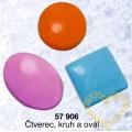 Forma na mýdlo - kolečko, ovál, obdélník - 3 tvary