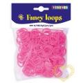 Gumičky loops růžové - 500 ks