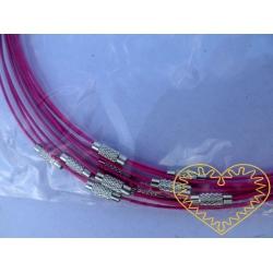 Růžové lanko se zapínáním k výrobě náhrdelníků
