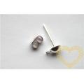 Puzeta s motýlem stříbrná - kompletní náušnicové zapínání - 100 kompletů