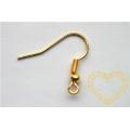 afroháček s kuličkou zlatý -  100 ks