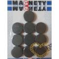 Magnet šedý - Ø 2 cm - sada 10 kusů
