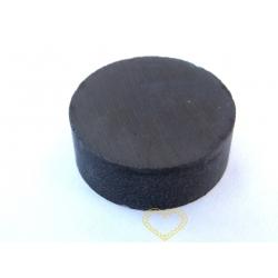 Šedý kulatý feritový magnet - 27 x 10 mm