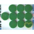 Magnet zelený - Ø 2 cm - sada 10 kusů