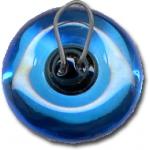 Modré skleněné oči ø 14 mm - 2 ks