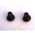 Zvířecí nos černý skleněný - 16 mm - sada 2 ks