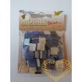 Modrá mozaika - mramorová pryskyřice - čtverečky 1 x 1 cm - balení 45 g