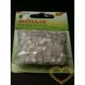 Pryskyřicová mozaika - bílý mix - čtverečky 0,5 x 0,5 cm - balení 45 g