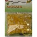 Pryskyřicová mozaika - žlutý mix - čtverečky 0,5 x 0,5 cm - balení 45 g