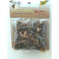 Hnědá mozaika - mramorová pryskyřice - čtverečky 0,5 x 0,5 cm - balení 45 g