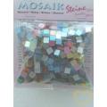 Lesklá mozaika - mix barev - čtverečky 0,5 x 0,5 cm - balení 45 g