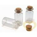 Mini skleněná lahvička se zátkou 13 x 25 mm