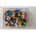 Barevné krátké plastové špendlíky - 150 ks