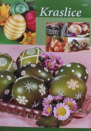 Reliéfní malba voskem – jednobarevné zdobení, síťový vzor, vícebarevné zdobení, zdobení černých vajíček; malba voskem – batika; vosková batika; vyškrabování – síťový vzor, slzičkový vzor, modrotisk, rostlinné motivy, veršíky; drátkování; háčkování; p