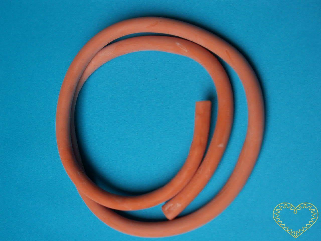 Praková guma kulatá dutá / guma pro výrobu praku - 0,5 m