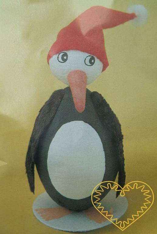 Skládačka tučňák. Balení obsahuje vše potřebné k výrobě jedné postavičky tučňáka. Potřebovat budete pouze lepidlo a barvy. Vznikne tak veselá dekorace.