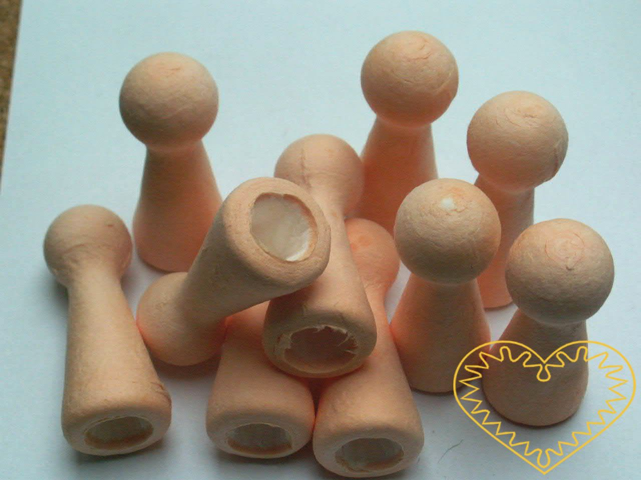 Tělové figurky na prst - sada 10 kusů. Výška figurek je 6,7 cm, zespodu mají otvor, aby se daly snadno navléct na prst. Skvělý materiál k výrobě prstového divadélka, ale i různých figurek a andílků.
