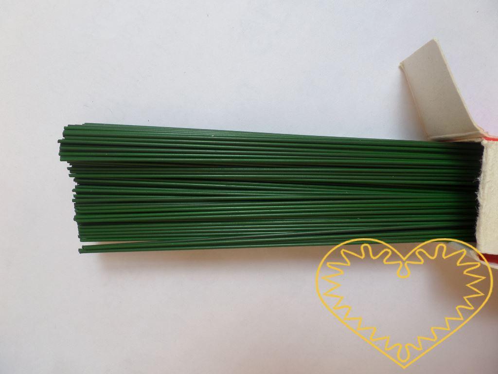 Zelené sekané dráty průměr 1,6 mm - 1 kg. Vhodné k aranžování květin a vytváření rozličných dekorací.