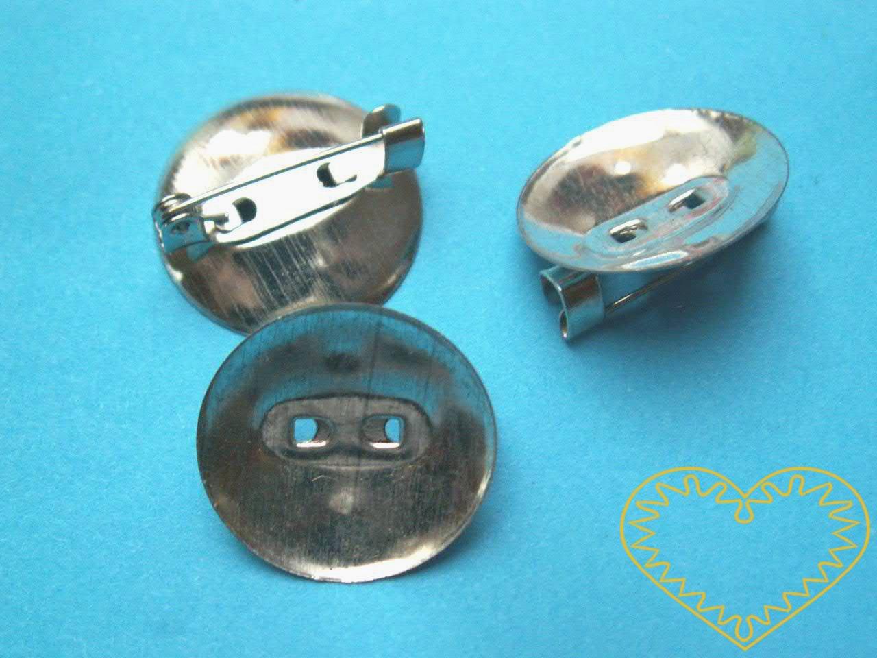 Brožový můstek s plíškem - Ø 19 mm. Pro vytváření vlastních nápaditých špendlíků a broží.