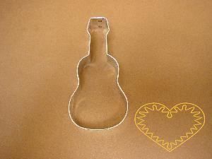 Kytara, housle či basa - vykrajovátko. Formička vhodná na perník i na další druhy těsta, popř. na měkké modelovací hmoty.