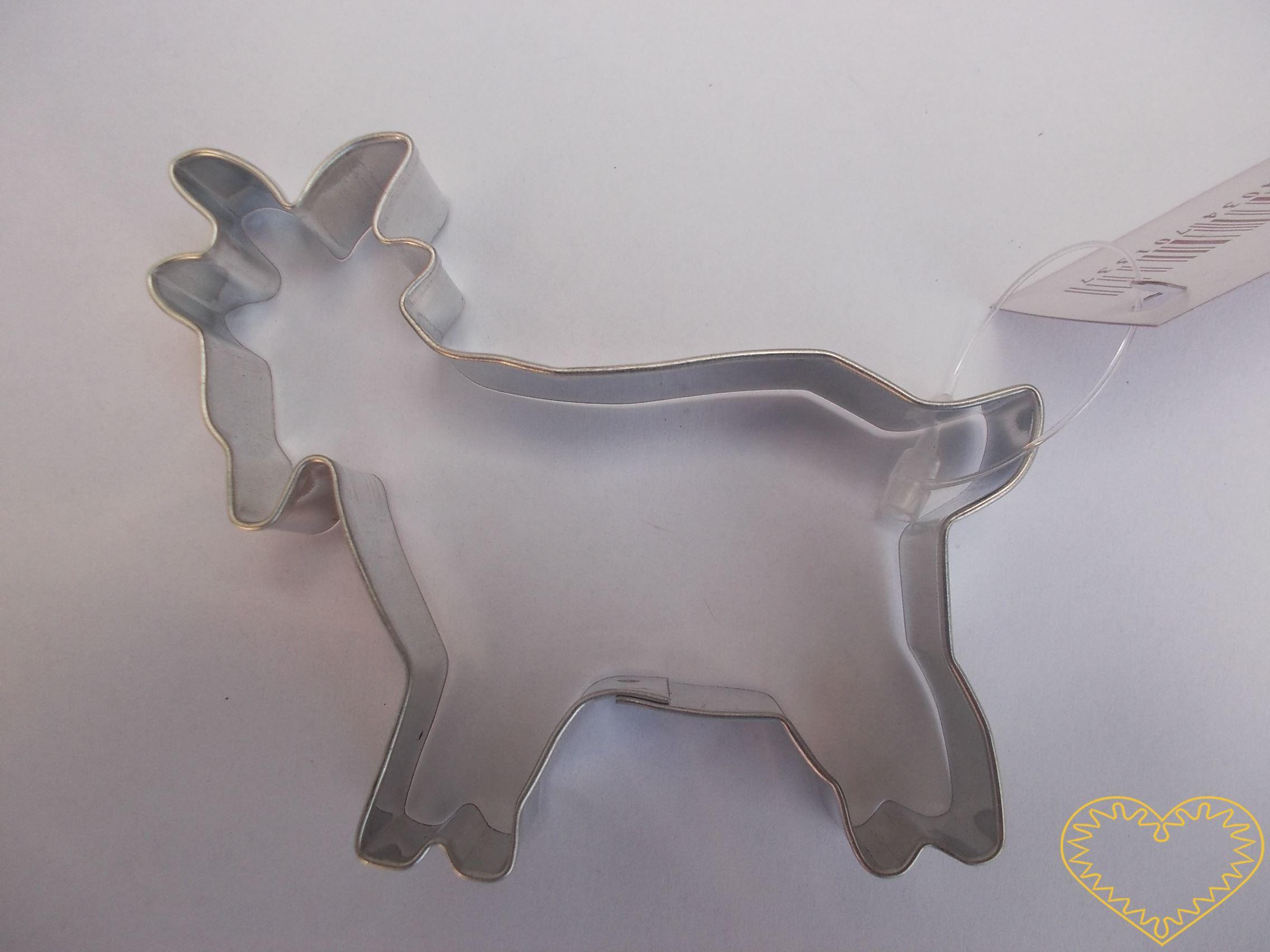 Kozel - vykrajovátko. Formička vhodná na perník i na další druhy těsta, popř. na měkké modelovací hmoty.