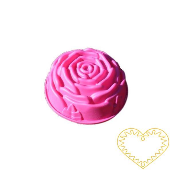 Růže - silikonová forma na mýdlo pro domácí výrobu mýdla z glycerínových mýdlových hmot i při metodě za studena.