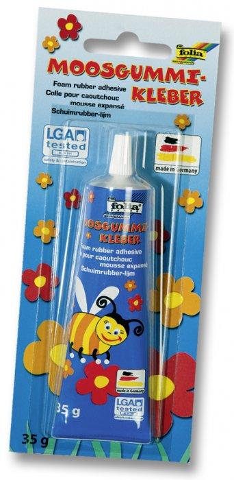 Lepidlo - 35 g, vhodné na pěnovou gumu (moosgummi), ale též na plast, dřevo, keramiku, polystyren, porcelán... Mnohostranné využití.