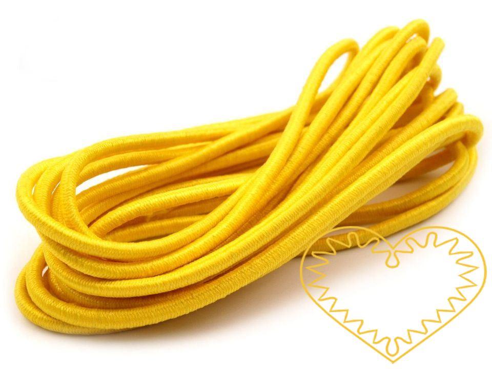 Kulatá pruženka ø 3 mm - délka 3 m. Pruženka s kulatým průměrem je vhodná do tepláků, bund a jiného sportovního oblečení, či na výrobu vlasových dekorací.
