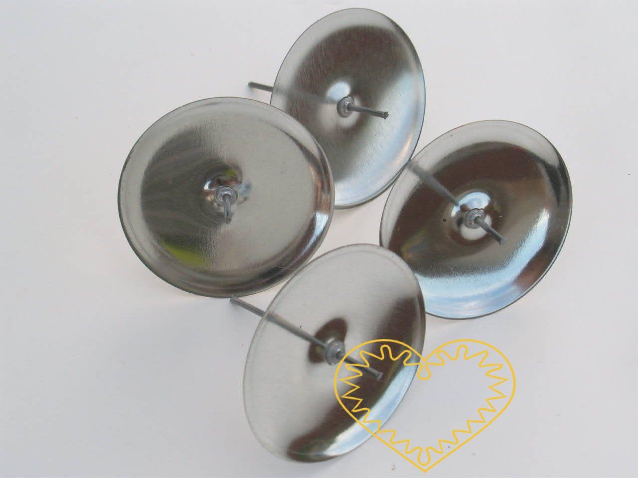 Velký stříbrný bodec - svícen na aranžování