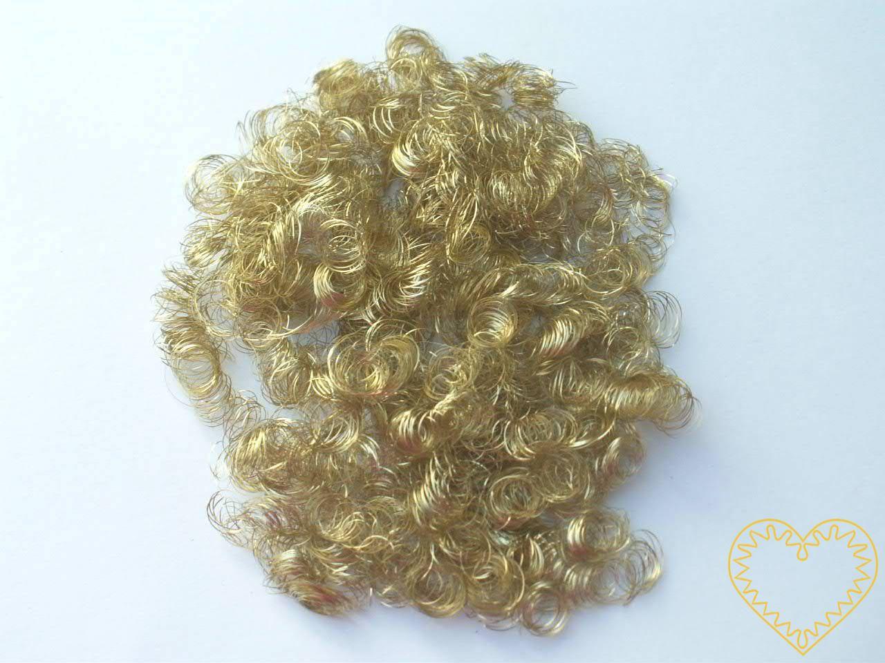 Andělské vlasy zlaté - baroko 20 g. Mají široké využití - uplatní se při aranžování, tvorbě nejrůznějších dekorací, ale např. i jako vlásky na figurku či maňáska.