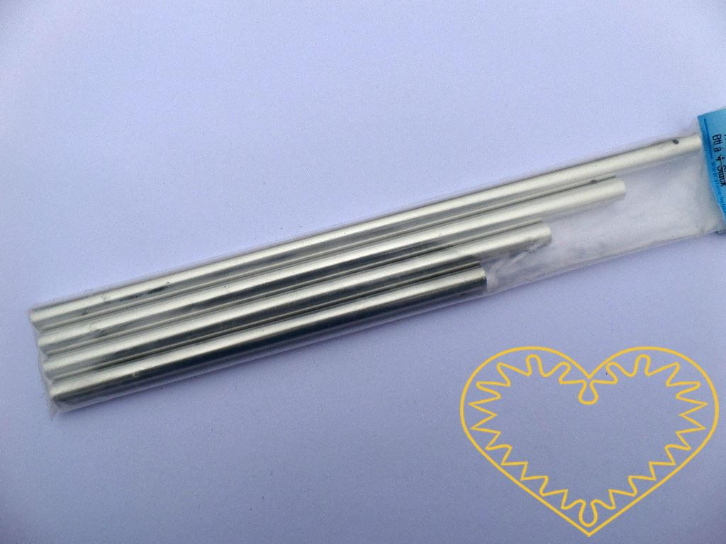 Zvonkohra - tři kovové zvonící tyčinky v délce 17, 20, 23,5 a 27 cm. Prima materiál k výrobě vlastní originální zvonkohry.