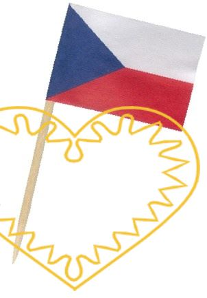Papírová vlaječka na dřevěném párátku slouží jako přízdoba pohoštění - balení 50 kusů. Dekorativní přízdoba slavnostního pohoštění najde uplatnění zvláště u společenských akcí.