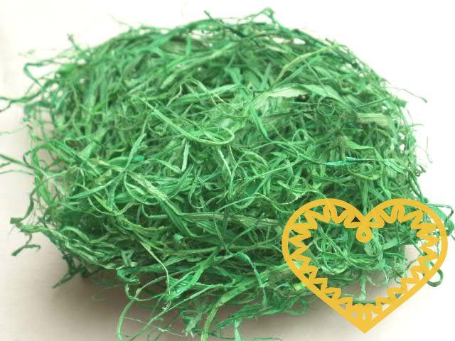 Vhodné k aranžmá jarních, velikonočních i celoročních předmětů. Lze z něj udělat mašli na dárkové předměty, podklad pod figurky, lze jej použít při vazbě řezaných i sušených květin.