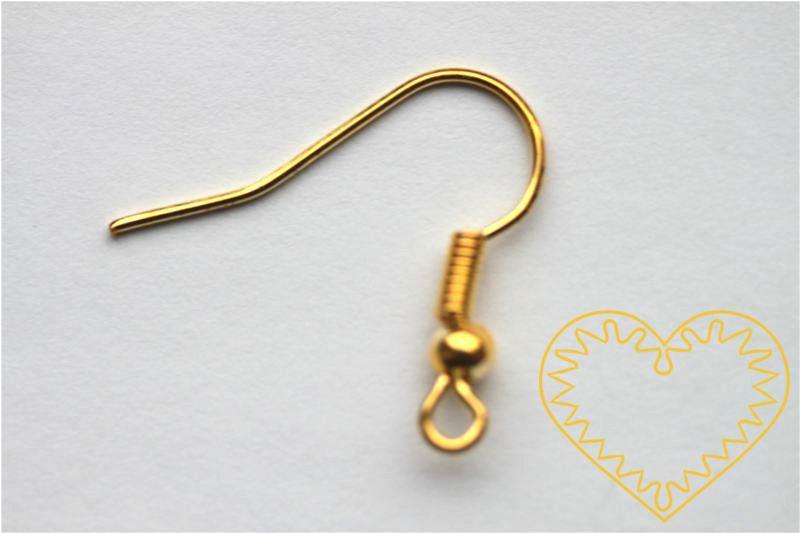 Zlatý afroháček s kuličkou - sada 100 ks. Afroháčky jsou oblíbenými komponenty k výrobě náušnic. Pomocí ketlovacích či nýtových jehel k nim snadno připevníte korálky či kamínky. Při výrobě složitějších náušnic můžete použít i další bižuterní komponen