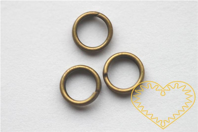 Mosazný spojovací kroužek ø 6 mm - 50 g (cca 800 - 900 ks). Spojovací kroužky využijete při výrobě rozličných šperků - náuštnic, náramků, náhrdelníků, čelenek nebo i prstýnků.